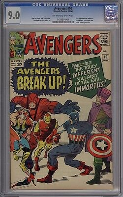 Avengers #10 - CGC Graded 9.0 - 1st Immortus