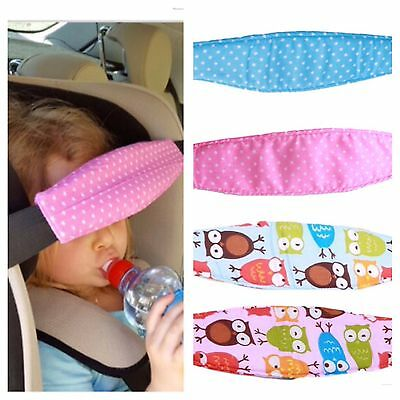 UK - Adjustable Child Kids Safety Car Seat Travel Sleep Aid Head Strap Support