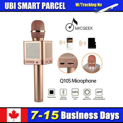 Genuine MicGeek Q10S Wireless Microphone Bluetooth Rose Gold For iPhone HOT