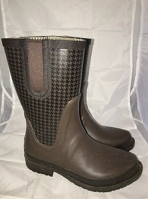 L.L. Bean Wellie Brown Rain Boots Women's Size 7