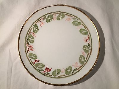 """J&C Bavaria Hand Painted Gilded Floral Plate 8 3/8"""""""