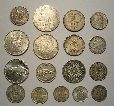 Collection Lot World Silver Coins**17 Nice Coins**Take a Look**