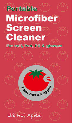Portable Microfiber Screen Cleaner For Phone, Tablets, Glasses & more - 'Tomato'