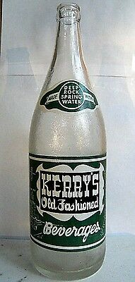 KERRY'S Old Fashion, 32 oz. bottle. Haverhill, Mass. 1961 ACL soda.