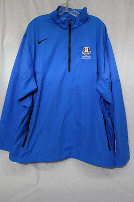 Authentic XXL NIKE GOLF 2012 Ryder Cup 'Captain's Challenge' Blue Jacket-B90