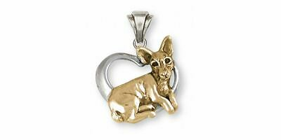 Rat Terrier Pendant Jewelry Silver And Gold Handmade Dog Pendant RTT1-TNP