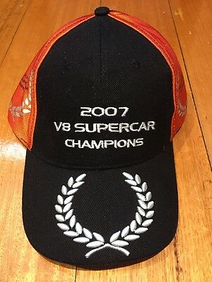 V8 Supercars 2006 2007 Champions Team Cap Toll HSV NEW