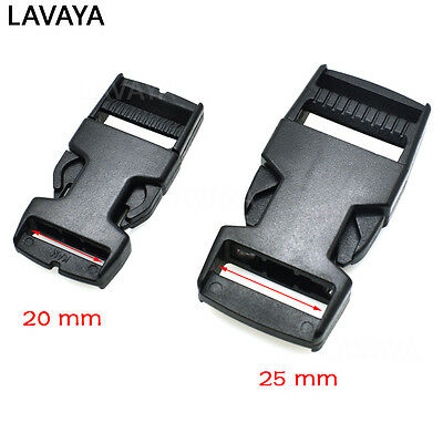 Plastic Side Release Buckle For Tactial Backpack Luggage Webbing 20mm / 25mm
