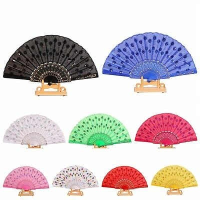 Chinese Foldable Folding Hand Fan Dance Accessories Party Wedding Home Decor