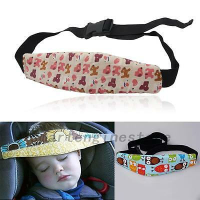 Safety Car Seat Sleep Aid Head Fasten Support Belt Fixing Band for Kids Child UK