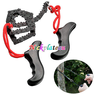 Hot Survival Chain Saw Hand ChainSaw Fast Cutting EDC Camping Tool Pocket Gear