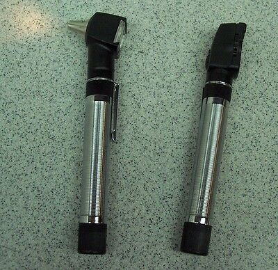Welch Allyn Pocketscope Otoscope/ophthalmoscope Diagnostic Set New Batteries