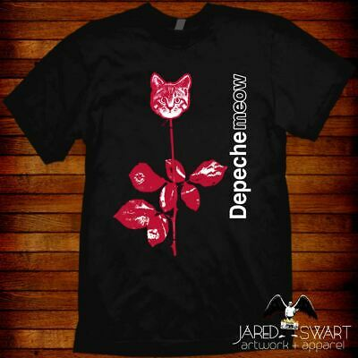Depeche Mode T-shirt Meow cat band mashup cat lover unisex & ladies fit