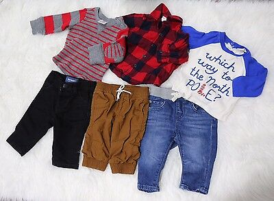Baby Boys 3 6 Months Baby Gap Hanna Andersson Old Navy Pants Shirts Lot