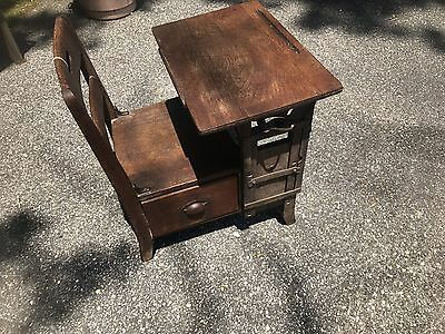 Antique School Desk/Chair With Cubby Hole Drawer Under Seat/NO SHIPPING-PICK UP