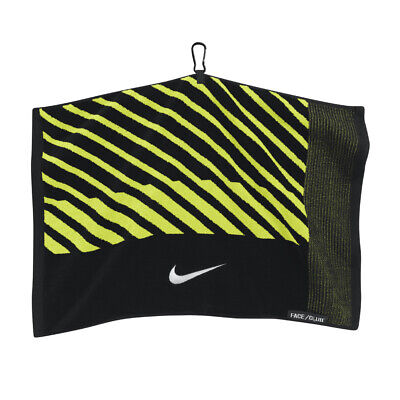 NEW Nike Face/Club Jacquard Towel - Black/Volt