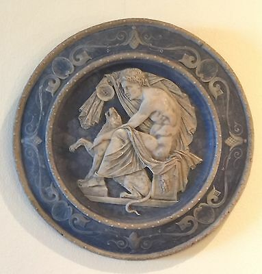 Antique 19th or possibly Late 18th Century Wedgwood Style pottery plaque
