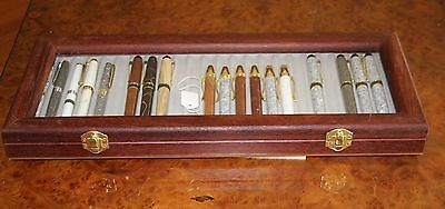 Jarrah  Display Case for Hand turned Pen, with Glass Lid holds 24 Pen