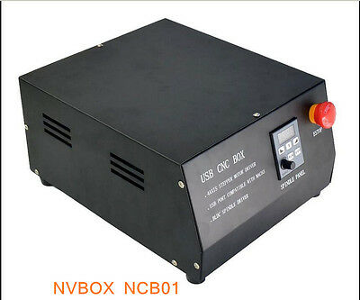 CNC USB MACH3 Control Box 4 Axis BLDC Spindle Driver Controller For Engraving