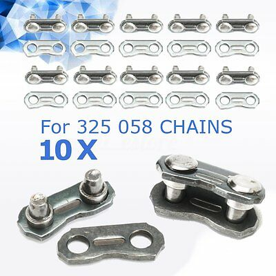 10 Set Chainsaw Chain Joiner Link for JOINING 325 058 Chain 1.5x0.5cm Dia 0.3cm