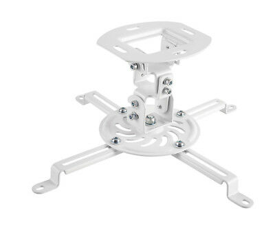 Universal Ceiling Mount for Projectors White -up to 13.5kg/29.7lbs PrimeCables