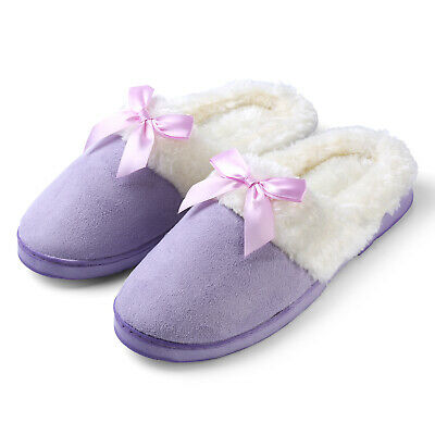 019ec6c5cf26 Aerusi Women's Girl's Lady Indoor Shoes House Warm Slipper Size 7-9 Purple