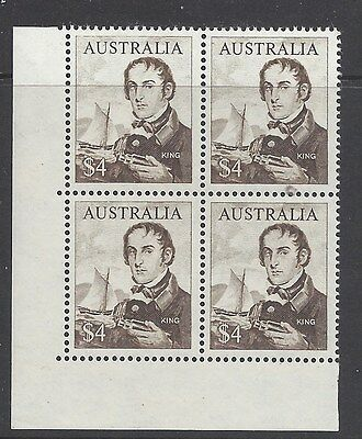 Australia 1966 Navigator Phillip Parker King Block of 4  Stamps