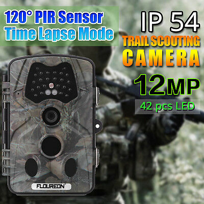12Mp 1080P Hd Fototrappola Scouting Hunting Camera Telecamera Pir Infrarossi It