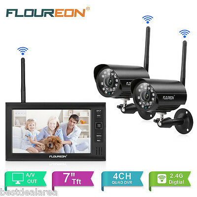 FLOUREON 4CH HD Wireless Wifi DVR Funk Video Überwachungssystem Videoüberwachung