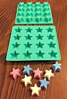 """~x1 SILICONE """"STAR"""" TRAY MOULD (for MINI SOY WAX TART & MELT MAKING)"""