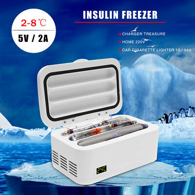 USB Portable Medicine Fridge Refrigerator Insulin Cooler Box Case 2-8℃ Travel