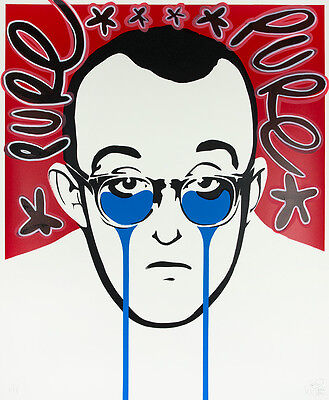 PURE EVIL - Keith Haring's nightmare Hand finished 1/1 Urban Street art, pop art