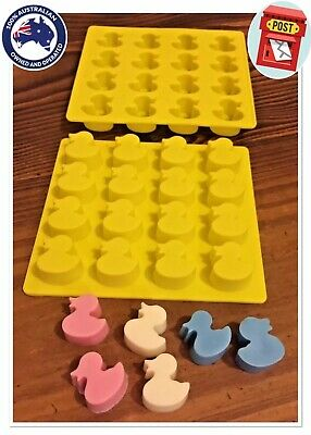 "~x1 SILICONE ""LITTLE DUCKY"" TRAY MOULD (MINI SOY WAX TART/MELT or CHOC MAKING)"