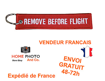 Porte cles remove before flight keychain porte clefs cle avion ref2