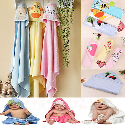 Cute Infants Baby Kid's Hooded Towel Bathrobe Toddler Boy Girls Bath Washcloths