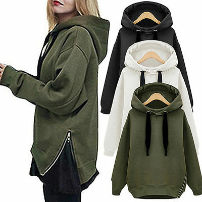Plus Szie Women Hoodie Sweatshirt Coat Loose Jumper Pullover Hooded Sweater Tops