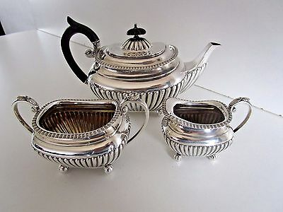 Victorian Sterling Silver Tea Service..Hallmarked Sheffield 1898..