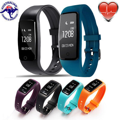 Sports Fitness Activity Tracker Fit Heart Rate Monitor Bit Wristband Smart Watch