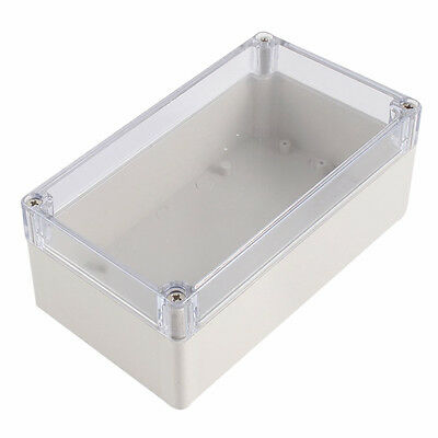 SS Waterproof Clear Cover Plastic Electronic Project Box 158x90x60mm