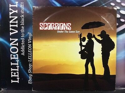 "Scorpions Under The Same Sun 12"" Single Yellow Vinyl MERX395 A/B Rock 80's"