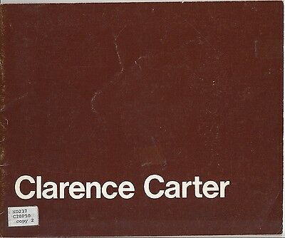 Clarence Carter A Retrospective View 1976 Art Catalog Gimple Weitzenhoffer Carus