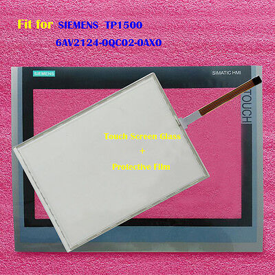 New for SIEMENS TP1500 6AV2124-0QC02-0AX0 Touch Panel Glass with Protective Film