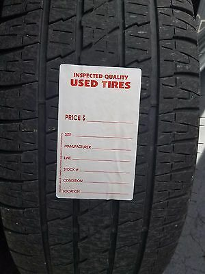 Adhesive Used Tire Labels - Weatherproof With High Tack Tire Adhesive