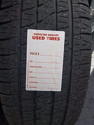 Adhesive Used Tire Labels- Weatherproof