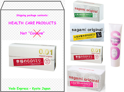 ●Japan● 1~5 boxes Ultra Thin Condom Sagami Original 001 002 Non-Latex Air feel●