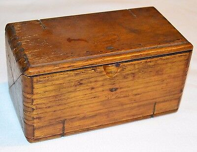 Antique Vtg Wood SINGER Sewing ACCESSORIES Folding Box with Machine Attachments