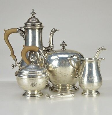 5-Pc Birks Canada Vintage Sterling Silver Sugar Creamer Coffee / Tea Set 74 Oz