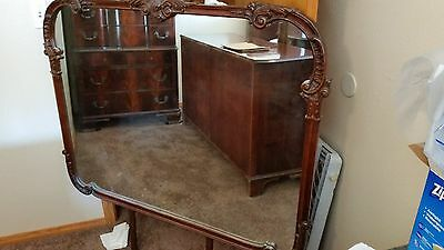 1930's American  Chippendale style dresser with  mirror and a highboy