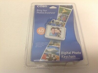 Coby 1.5 Inch Led Screen Digital Phot Keychain White New Dp-151