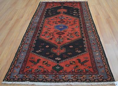 3'10x7'4 Fine Quality Authentic S Antique Persian Tribal Hand Knotted Animal Rug